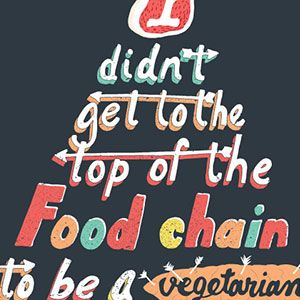 Top Of The Food Chain T-Shirt - http://teecraze.com/top-of-the-food-chain-t-shirt-2/ -  Designed by Wear Viral