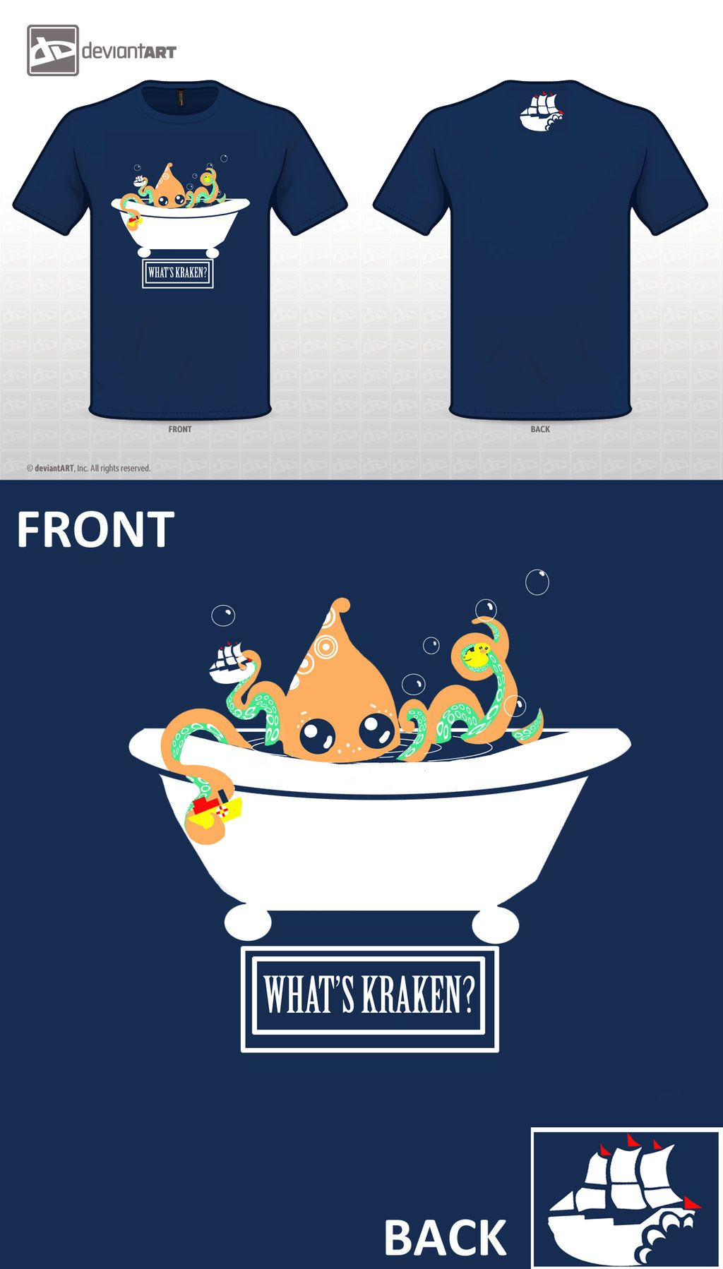 LEASE VOTE FOR MY T_SHIRT TODAY!!! It means work for me! Please share if you can too! Thank you! <3 WHAT'S KRAKEN? by sophersgreen.deviantart.com