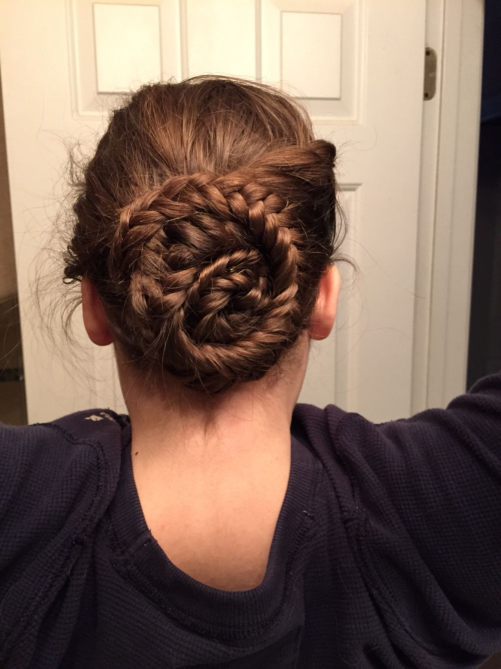 Could be a little tighter, but just some twists, fishtail and bobby pins. (: #hair #homecominghair #promhair #cute #hairstyle #hair