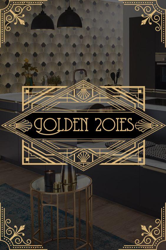 Kuchen Der Goldenen 20er Jahre Im Stil Von Art Deco Und Jugendstil Miami Art Deco Art Deco Stil Kuche Jugendstil