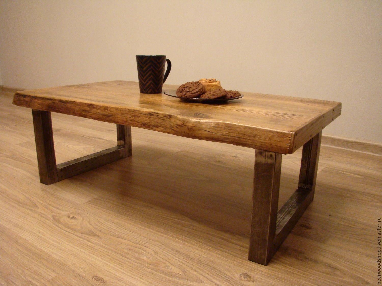журнальный столик в стиле лофт коричневый стол журнальныйстол