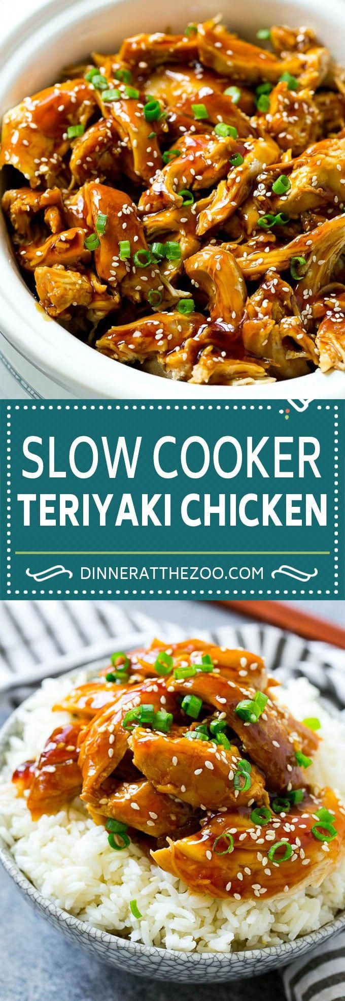 Slow Cooker Teriyaki Chicken - Dinner at the Zoo