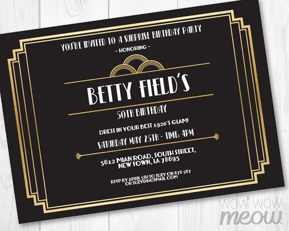 Art deco 1920s birthday invite party invitation instant download any art deco 1920s birthday invite party invitation instant download any age roaring 20s cocktail gold black personalize editable printable filmwisefo Choice Image