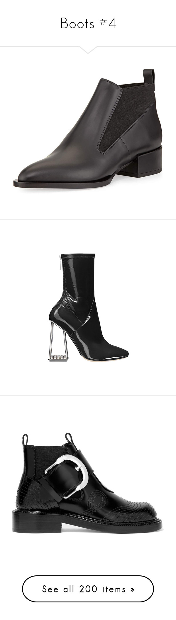 """""""Boots #4"""" by marissa-91 ❤ liked on Polyvore featuring shoes, boots, ankle booties, black, black chelsea boots, black booties, black boots, pointed toe booties, pointy toe booties and dior"""