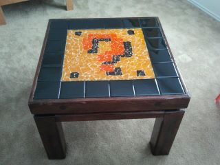Mosaic Question Block Table by Holly's husband (a Sprite Stitch User)
