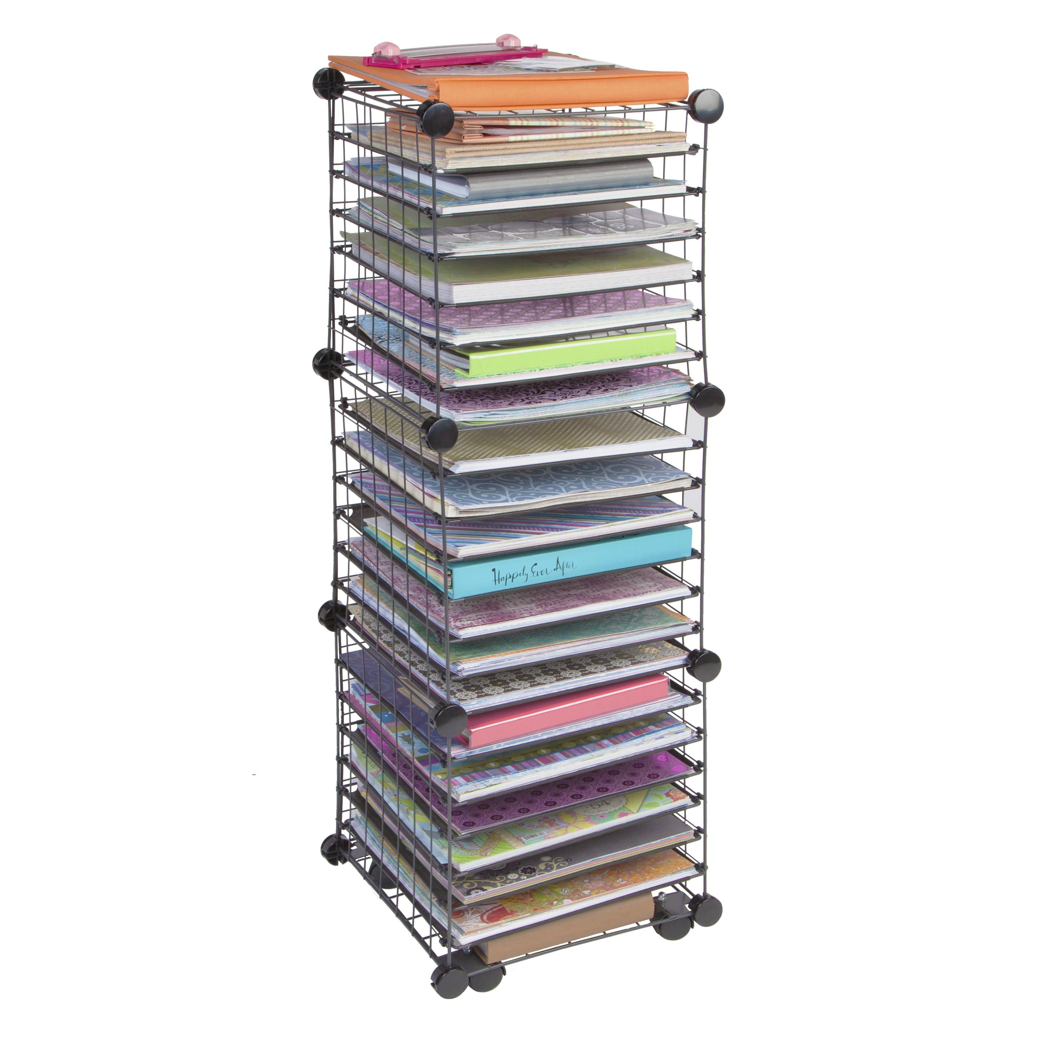 Iris Scrapbook Organizer Cart Overstock Shopping The Best