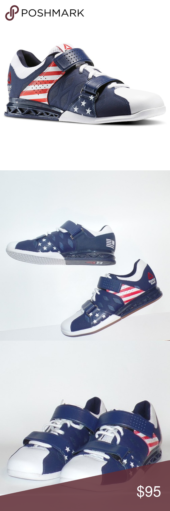 5b6ae9a30a1d5b Reebok Crossfit Lifters Plus 2.0 Liberty Pack 9 New without box pair of Reebok  crossfit lifters plus 2.0 Liberty Pack size 9. Lace up with velcro straps  ...