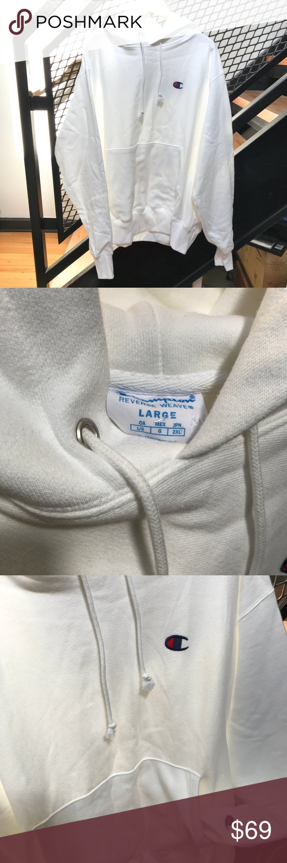 Champion Reverse Weave Hoodie In White Champion Reverse Weave Champion Shirts Hoodies [ 1740 x 580 Pixel ]