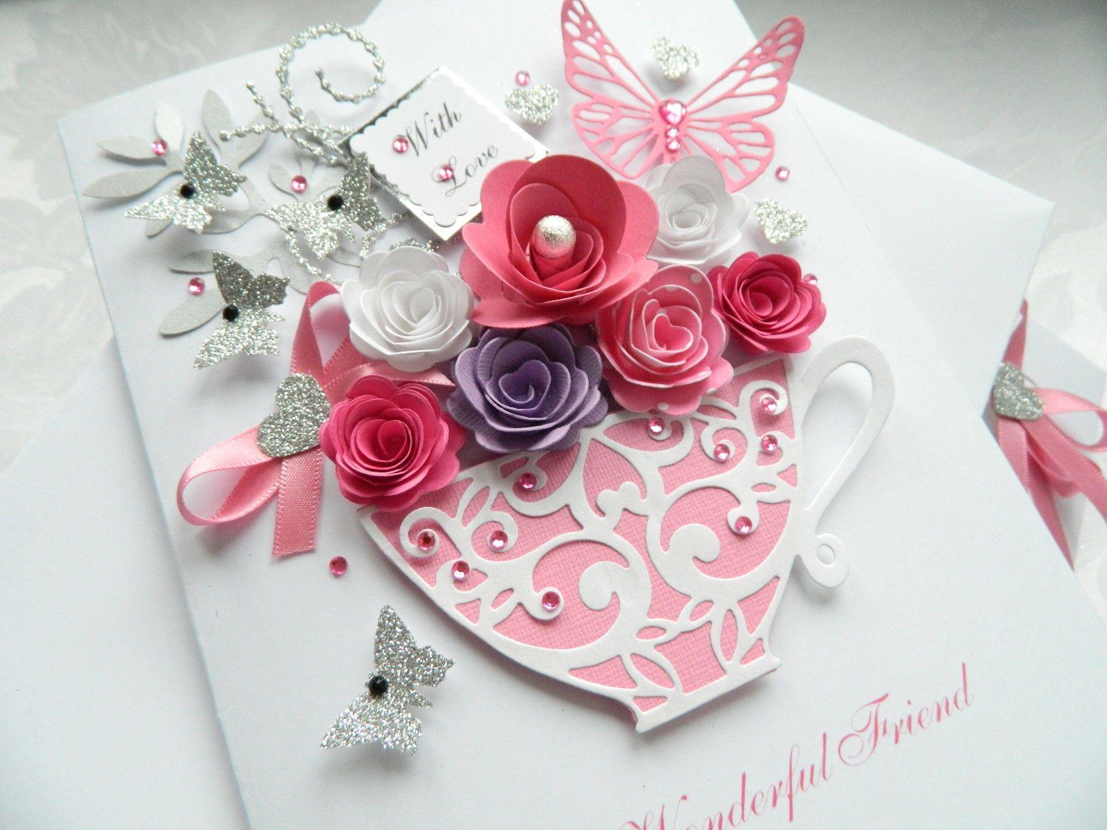60th Handmade Personalised Birthday Card Boxed