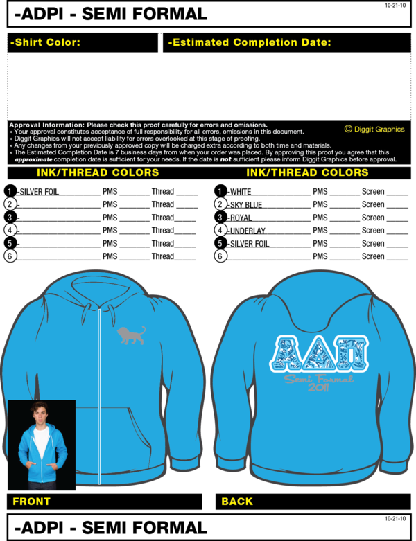 Alpha Gamma-Mizzou. Great idea to have sweatshirts for socials in the winter instead of t-shirts!