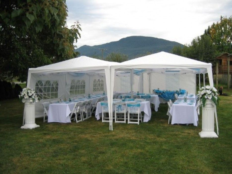 White tent of wedding decoration gazebo for wedding party for Outdoor party tent decorating ideas