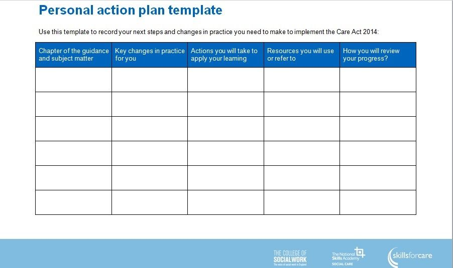Simple Action Plan Template Word - Excel - PDF http\/\/exceltmp - sample personal action plans