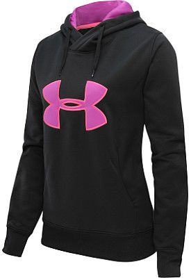 a0e2a2bb5b6f UNDER ARMOUR Women s Armour Fleece Storm Big Logo Hoodie