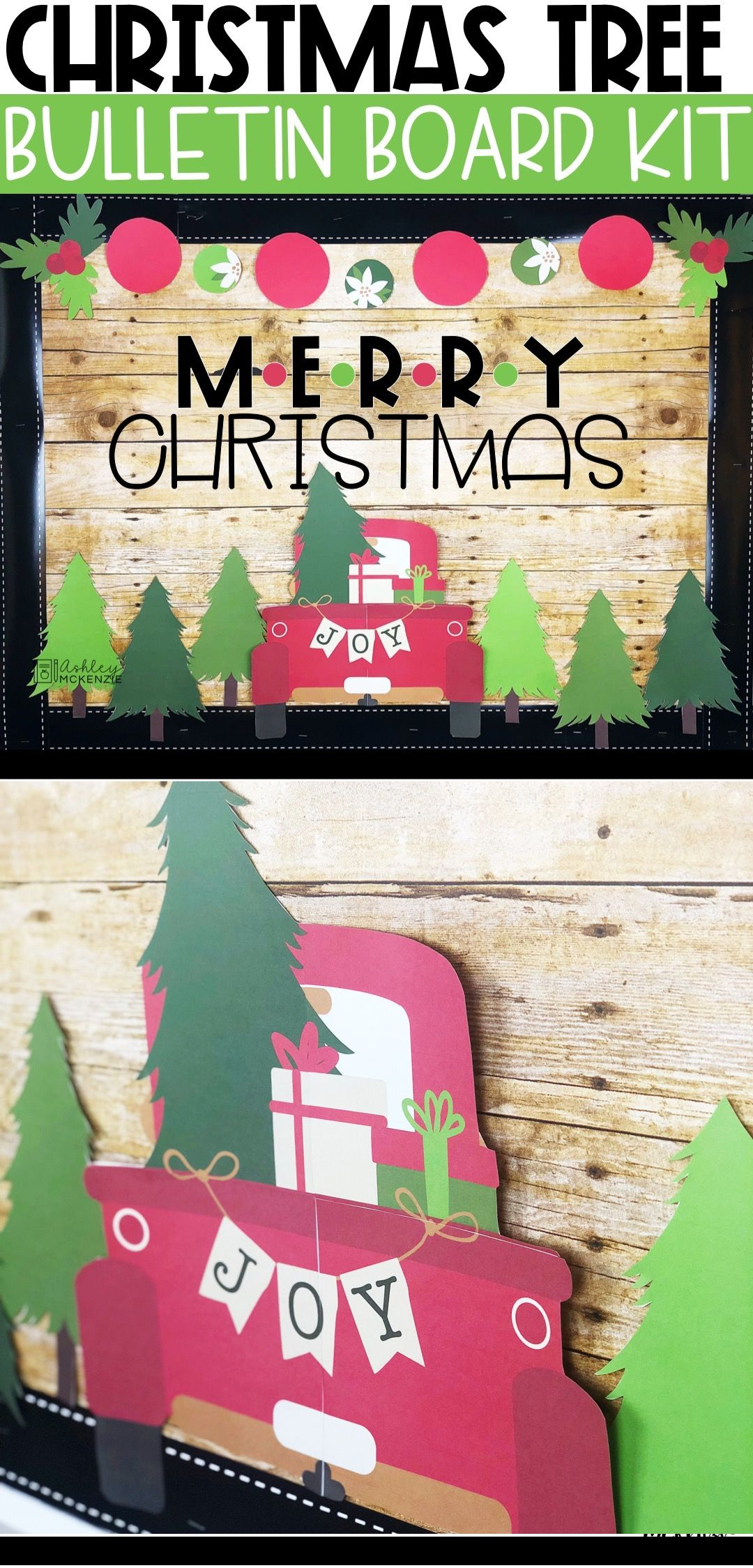 Little Red Truck Bulletin Board Kit #decemberbulletinboards