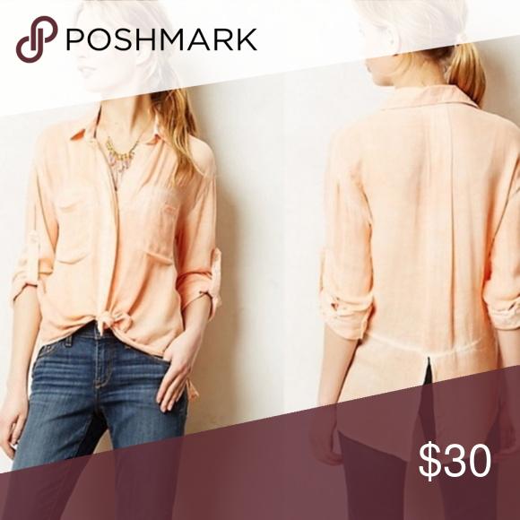 44c5a26b88d Cloth & Stone Orange Ombré Split Back Shirt Top S Cloth & Stone High Low  Orange Ombré Split Back Button down Shirt Top Sz S Spread collar, ...