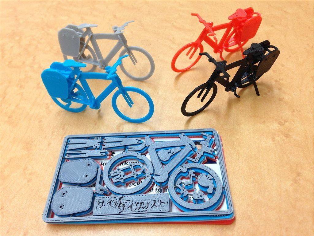3d Printed Touring Bike Business Card