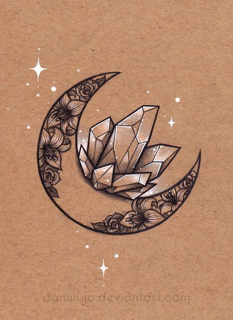 Crescent Moon, Crystal Cluster - Auftrag von dannii-jo   - Haushalt -