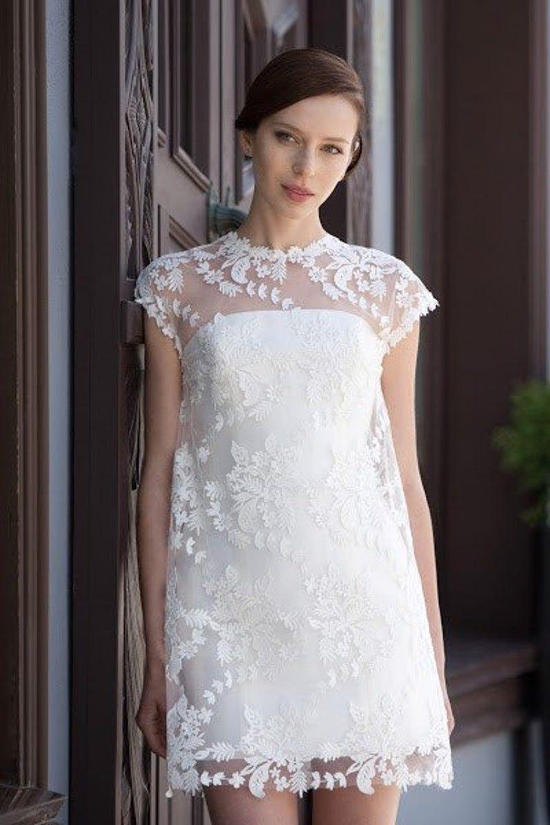 Short Boho Wedding Dress Simple Short Wedding Dress Ivory Etsy Short Wedding Dress Beige Bridesmaid Dress Wedding Dresses Simple [ 1191 x 794 Pixel ]