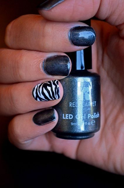 Photo of Manicure ~ Zebra accent nail | What The Fab