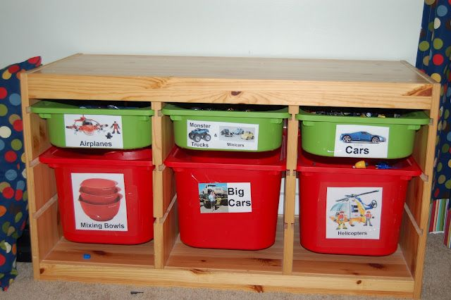 storage bins for toys with picture labels home playroom. Black Bedroom Furniture Sets. Home Design Ideas