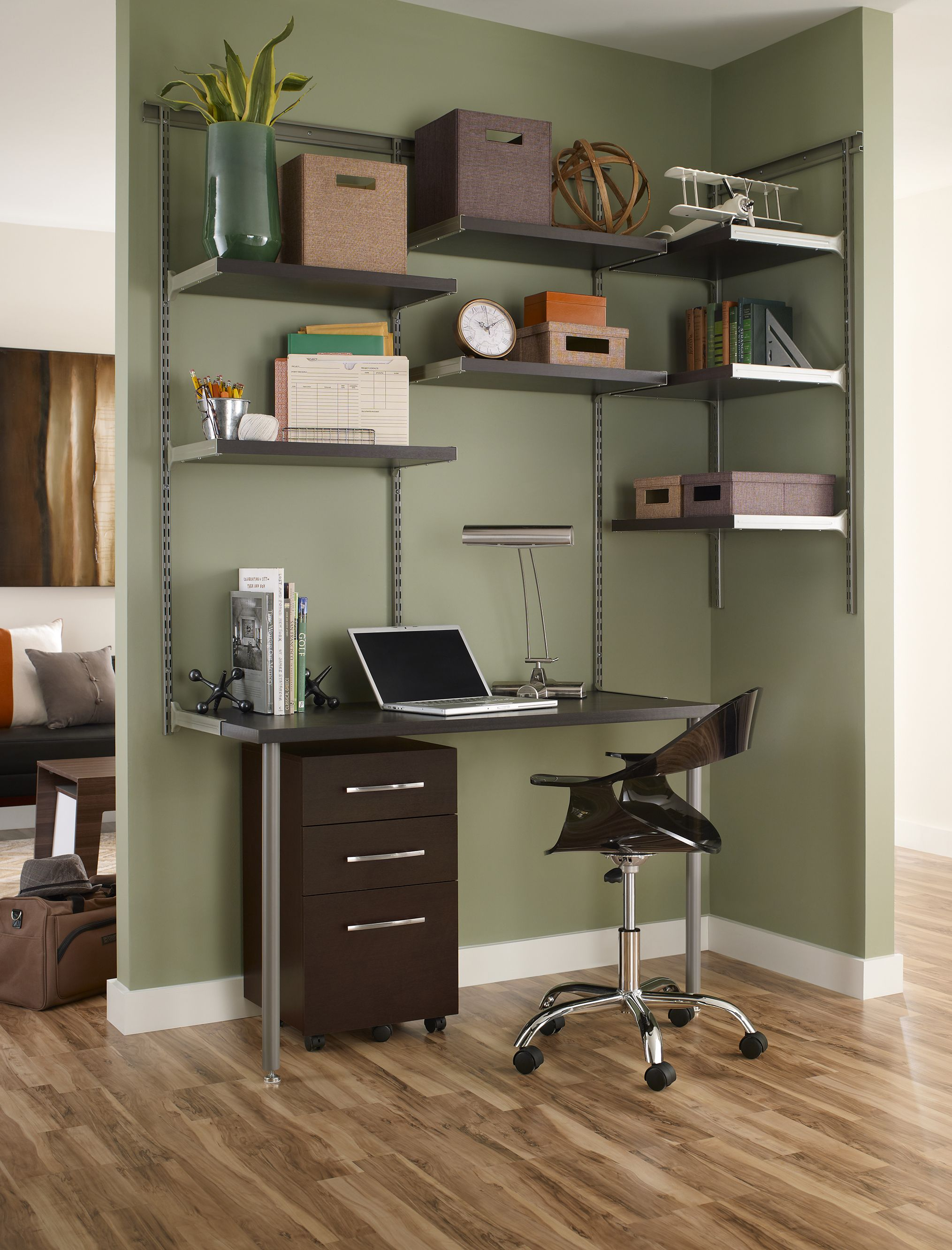 Home Office Nook For That Teen| ClosetMaid ShelfTrack Elite Home Office . .  #davidsbridal