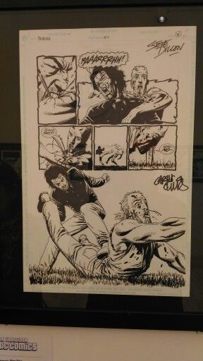 Steve Dillon. Original artwork.