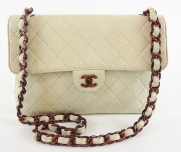 5f1491167551 Chanel Vintage Lambskin Classic Tortoise Shell Flap Shoulder Bag ...