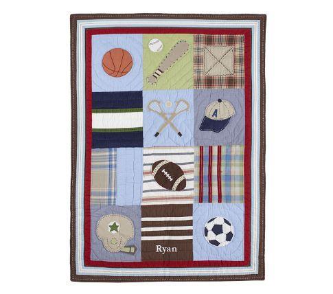 Junior Varsity Nursery Bedding | Pottery Barn Kids | Boy Nursery ... : sports themed quilts - Adamdwight.com
