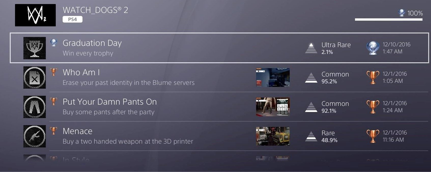 Screenshot] My first ever Platinum trophy #Playstation4 #PS4 #Sony