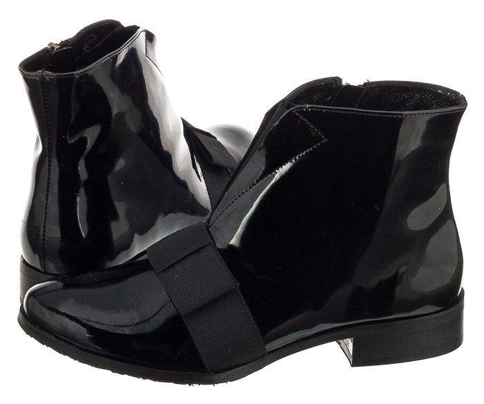Buty Damskie Botki Maciejka 02702 01 Czarne Lakier 6528819291 Oficjalne Archiwum Allegro Shoes Wedges Fashion