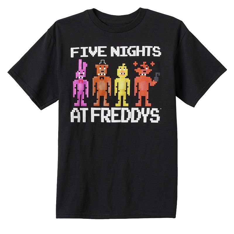 Boys 8-20 Five Nights At Freddy's Pixelated Group Tee, Boy's, Size: