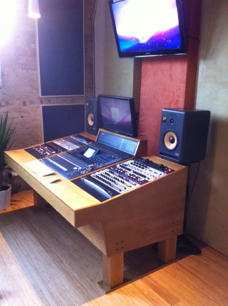 a custom handcrafted recording studio workstation for a yamaha 02r96 digital audio board www. Black Bedroom Furniture Sets. Home Design Ideas