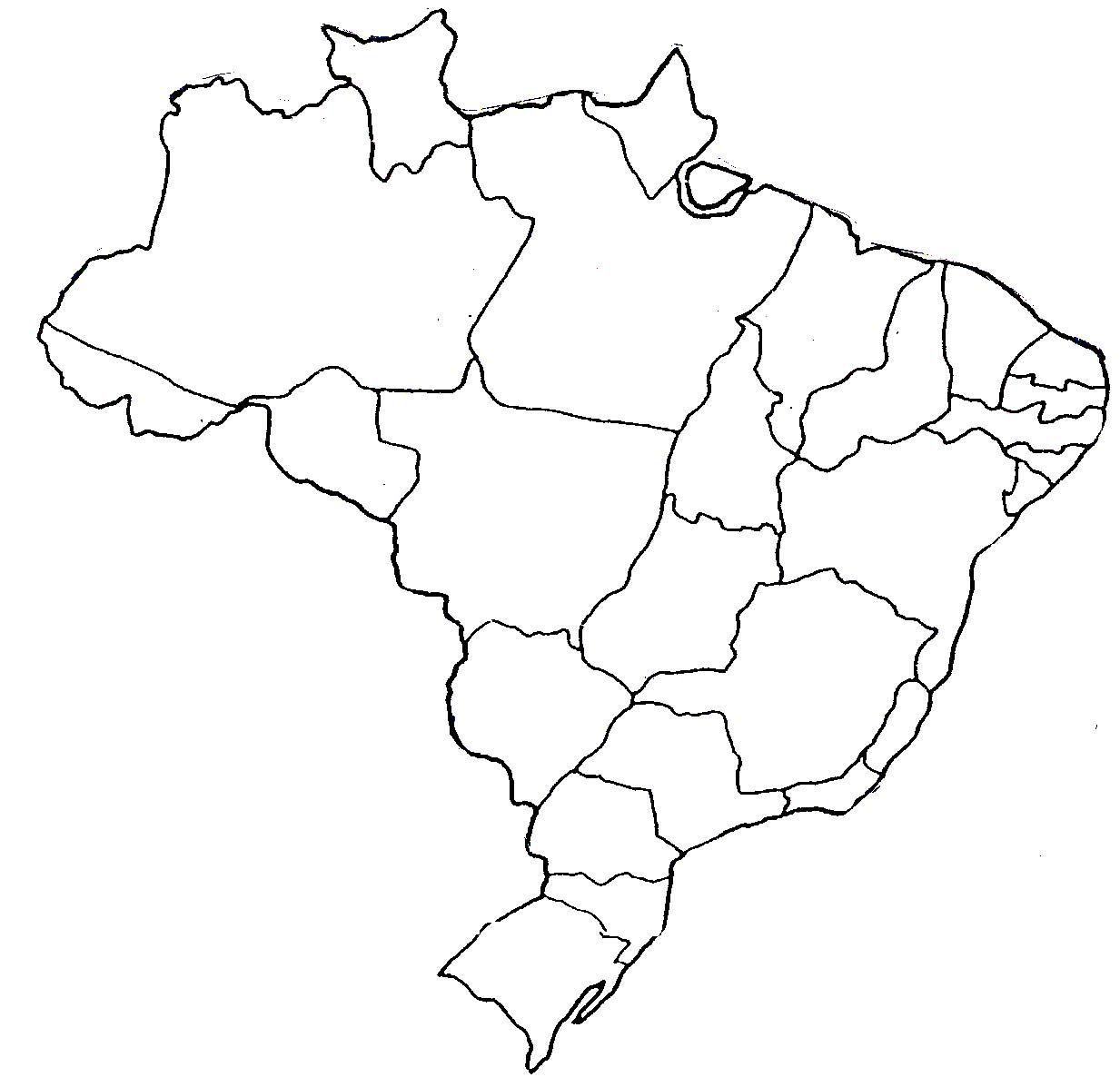Desenhos M Apa Do Brasil Para Colorir 3 Jpg 1233 1197 Mapa