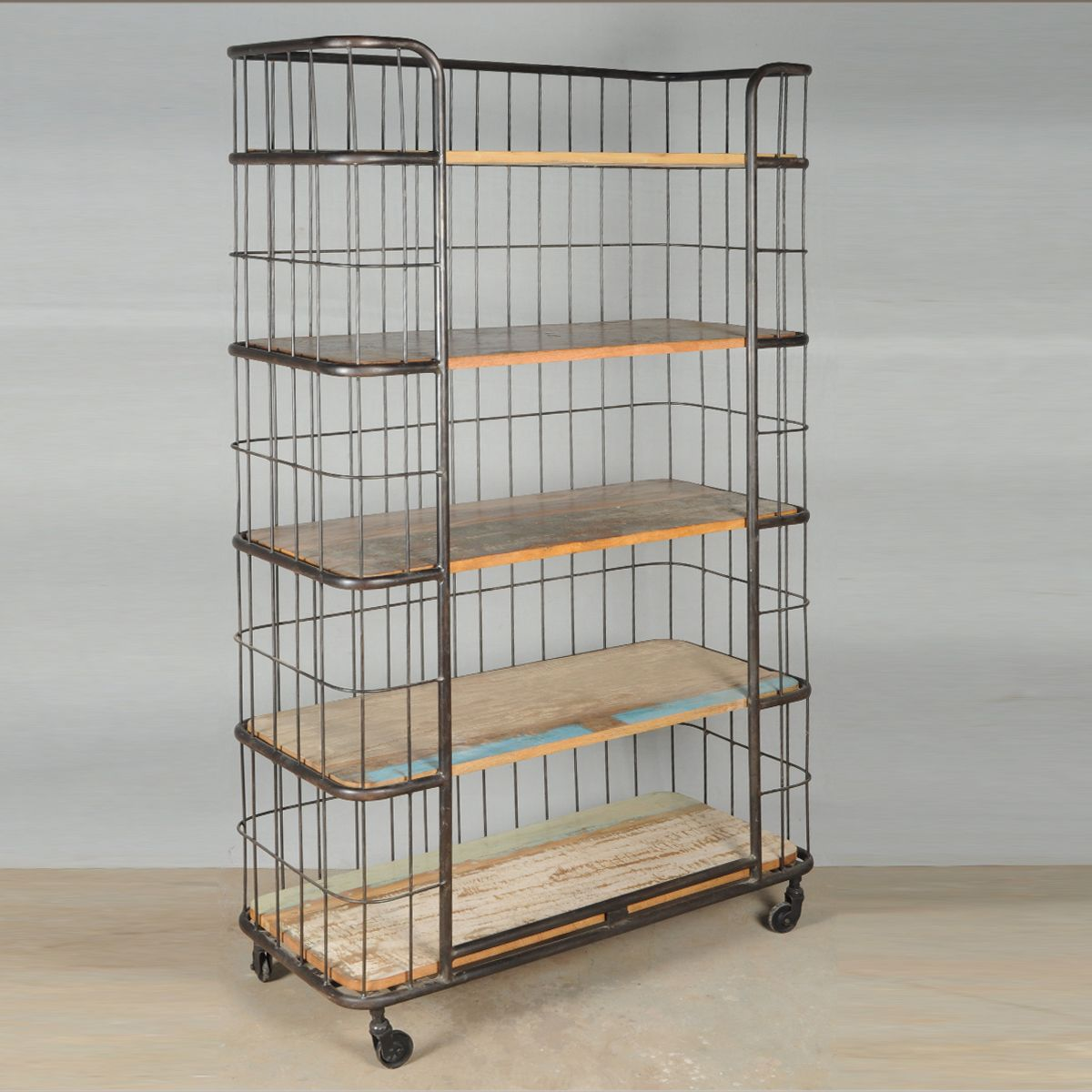 Productimage Bakers Rack Rolling Storage Reclaimed Wood