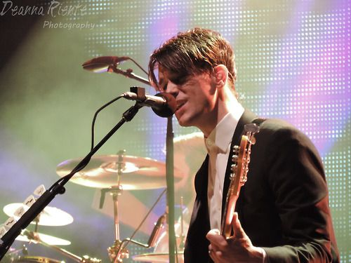 Dallon Weekes of Panic! at the Disco Uptown Amphitheatre at NC Music Factory 8/13/14 Charlotte, NC