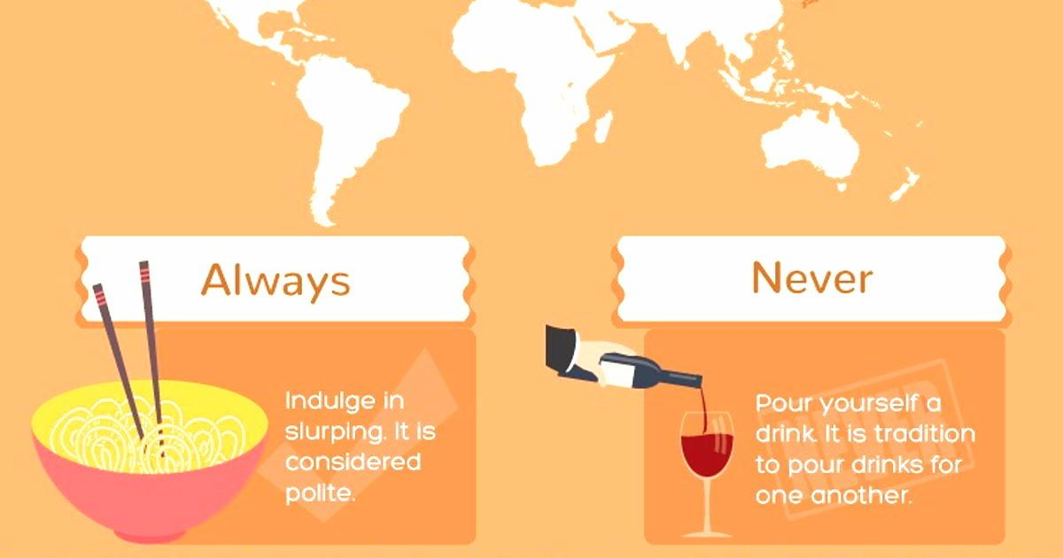 This Dining Etiquette Infographic Will Teach You The Table Manners In Different Countries