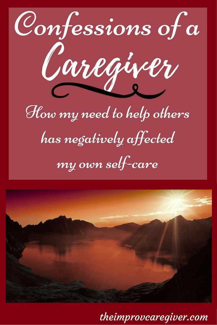"""""""Sometimes Caregivers overload themselves without"""