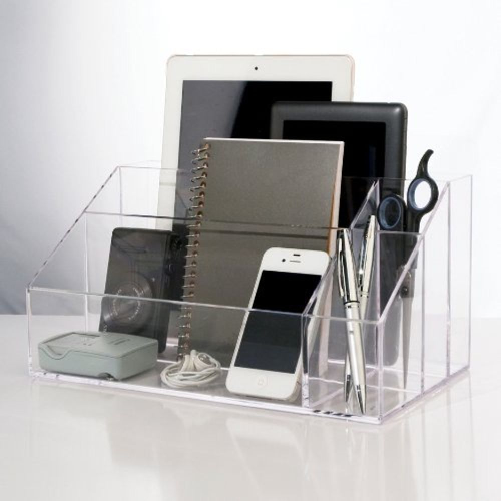 Desk Accessories & Organizer Persevering Stick On Desktop Makeup Storage Pen Holder Plastic Desk Organizer Stationery Office & School Supplies