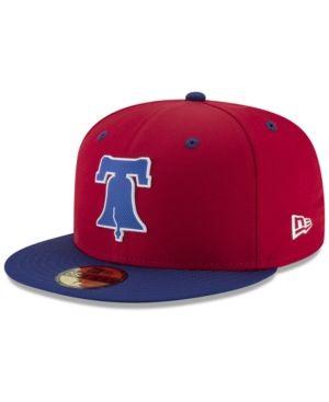 de7cd3f1c35d5 New Era Boys  Philadelphia Phillies Batting Practice Prolight 59FIFTY Fitted  Cap - Red 6 5 8