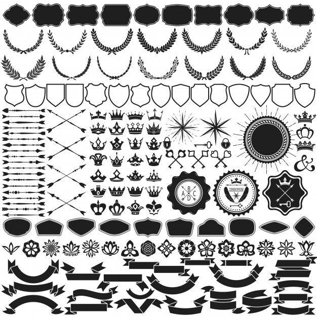 Design Element Vector Collection Free Vector cdr Download