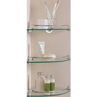 Buy Argos Home Set Of 3 Glass Corner Shelves Bathroom Shelves And Storage Units Argos Glass Corner Shelves Glass Shelves Glass Bathroom Shelves