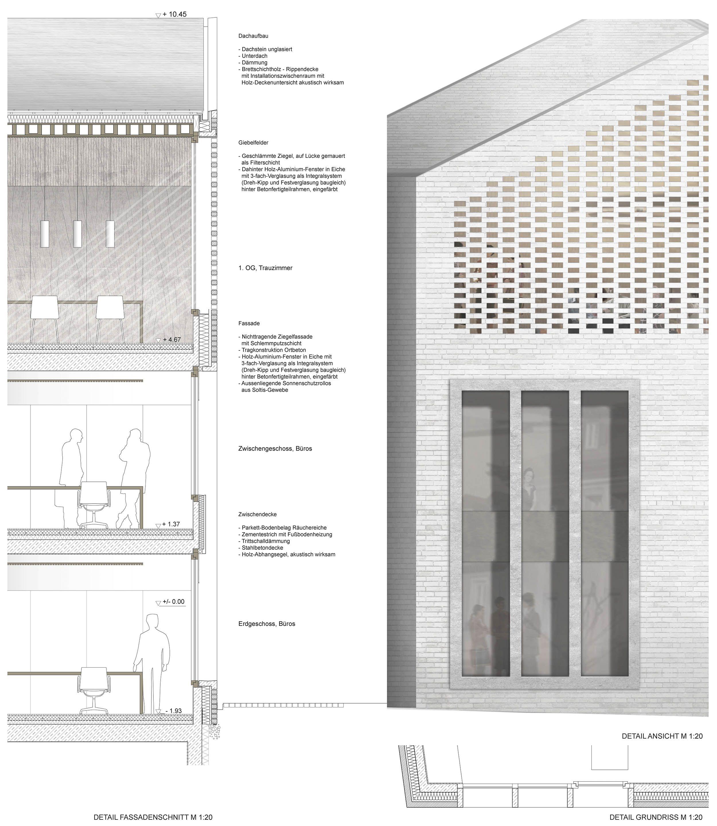 Erweiterung Rathaus 1 Preis Details Fassade C Bembe Dellinger Https Www Competitionline Com De Ergeb Fassadenschnitt Architektur Zeichnungen Architektur