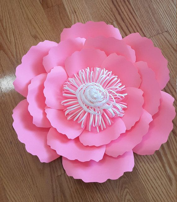 Paper flower template SVG cut file paper flower pattern DIY | Paper ...