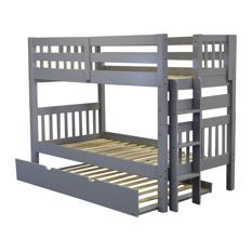 Best Discount Quality Bunk Beds With Trundle Gray Twin 400 x 300