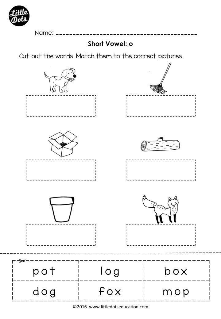 Free Short Vowel O Worksheet And Activity For Preschool Or Kindergarten Class Vowel Worksheets Short Vowel Worksheets Phonics Kindergarten