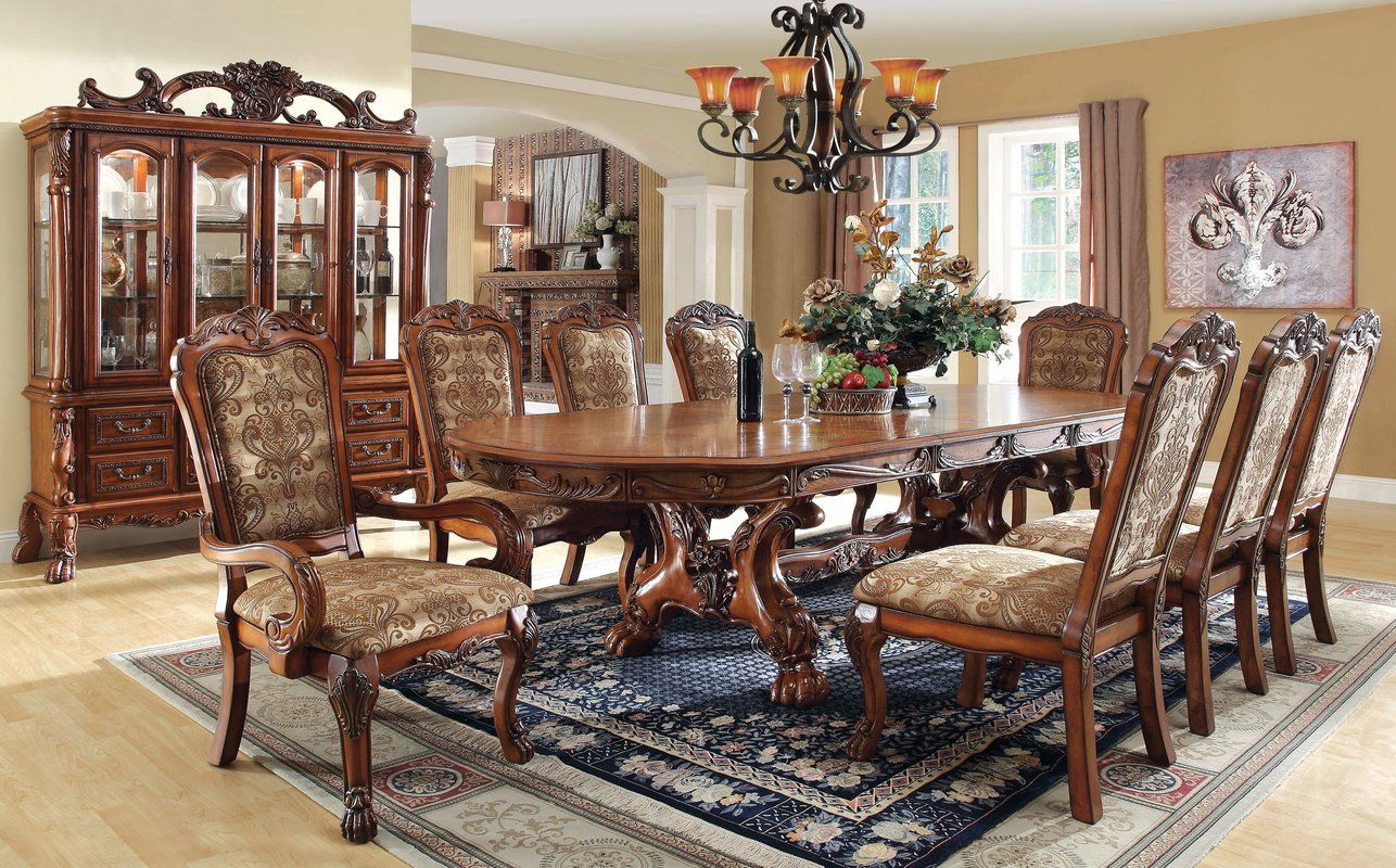 7 Pc Prenzo Collection Warm Brown Finish Wood Round  Oval Prepossessing Aspen Home Dining Room Furniture Design Ideas