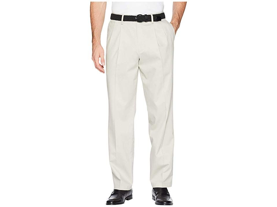 Dockers Classic Fit Signature Khaki Lux Cotton Stretch Pants D3  Pleated Cloud Mens Casual Pants Refined yet casual the pleated Dockers Signature Khaki Pants are a modern...