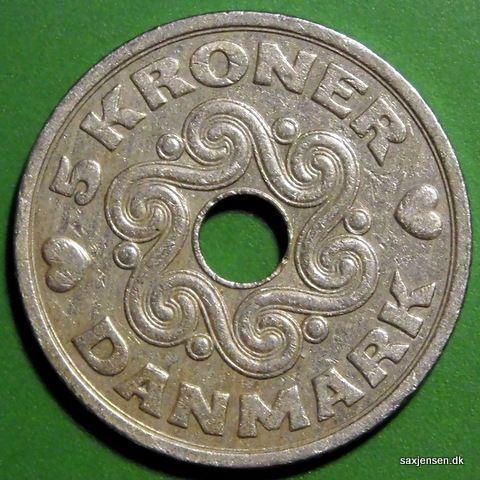 Dansk 5 Krone Mont Danmark 5kr Mont Coin Scandinavian Christmas Denmark Copenhagen