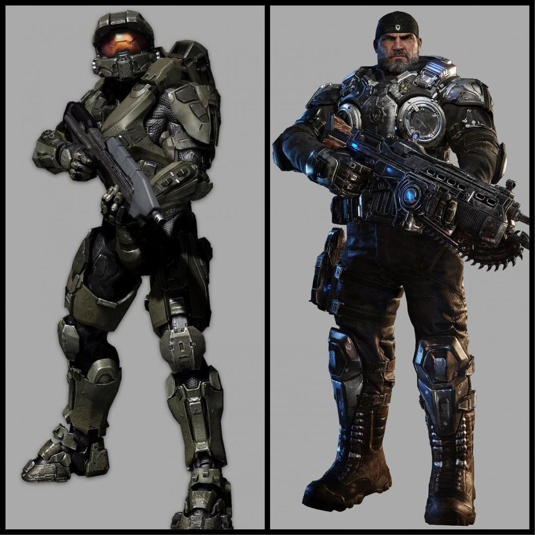 """36 Likes, 4 Comments - @smashem_mx on Instagram: """"¿A quién prefieren? Al Spartan o al sargento de la CGO.  #smash #geek #Halo #GearsOfWar…"""""""