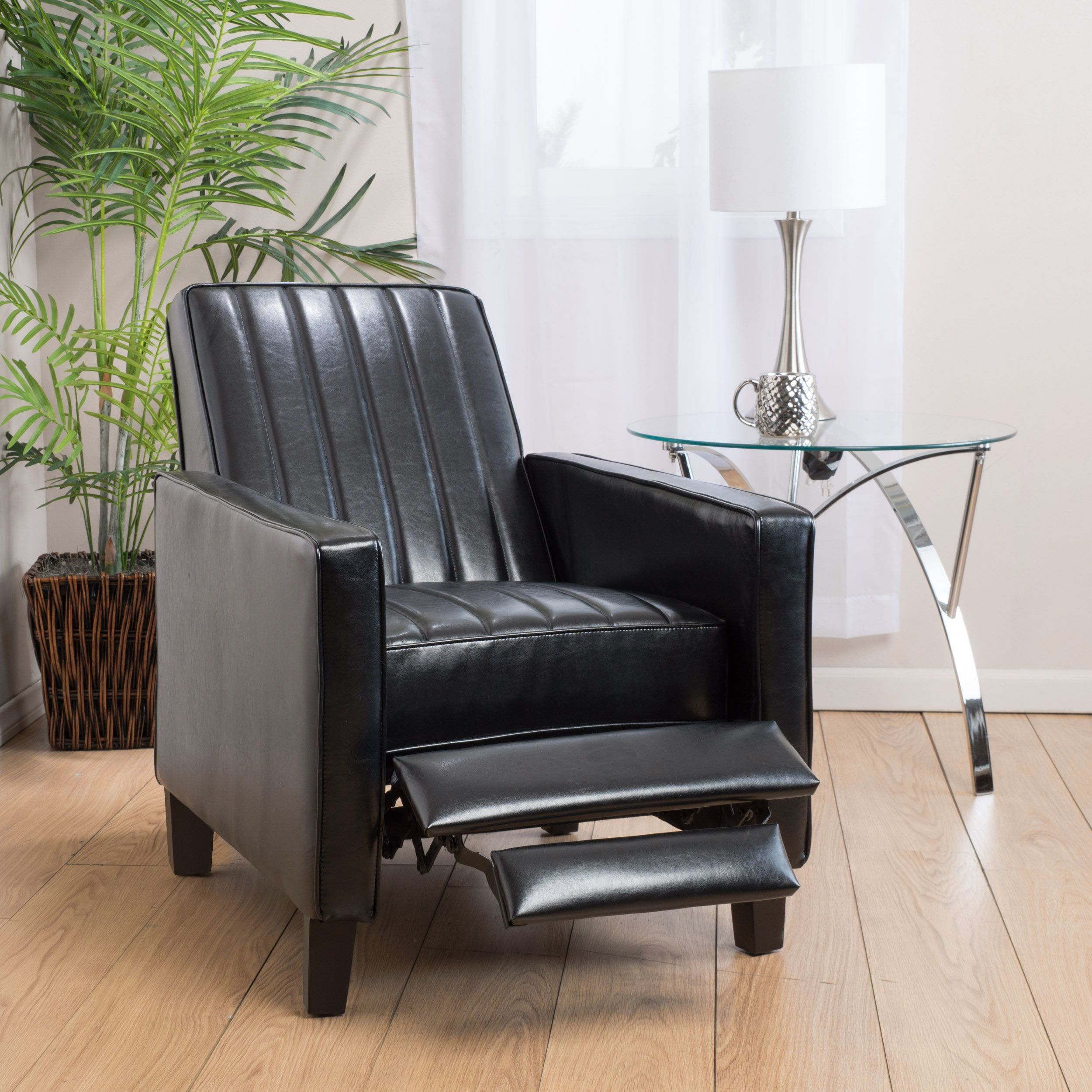 Jameson Channel Bonded Leather Recliner Chair by Christopher